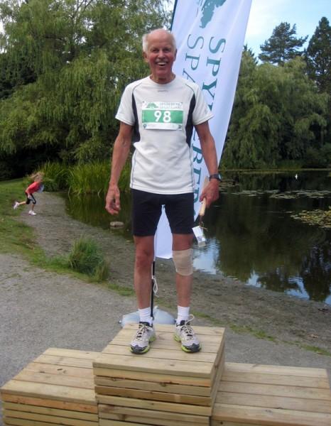 """Vi avslutter med løpets """"grand old man"""", eldste deltager og vinner av klasse 75-79 år, Rolf Nielsen. Foto: Frode Monsen / Sportsmanden"""