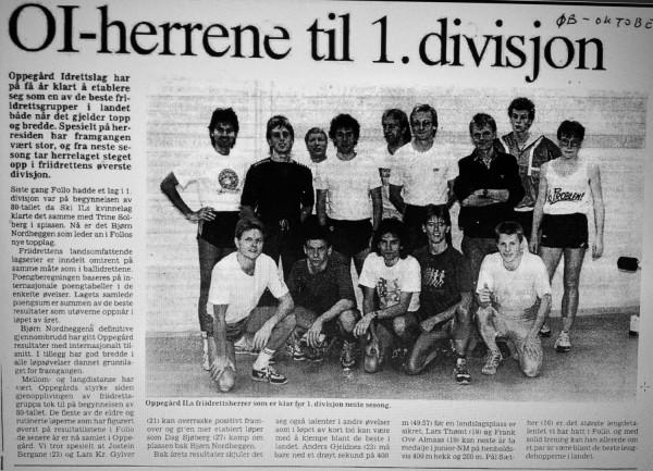 Faksimilie fra Østlandets blad i oktober 1988.