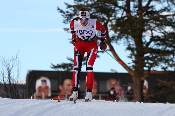 Det løsnet skikkelig for Martine Ek Hagen på 10 km klassisk i U23-VM. Her fra Beitostølen tidligere i sesongen. (Foto: Bjørn Hytjanstorp)