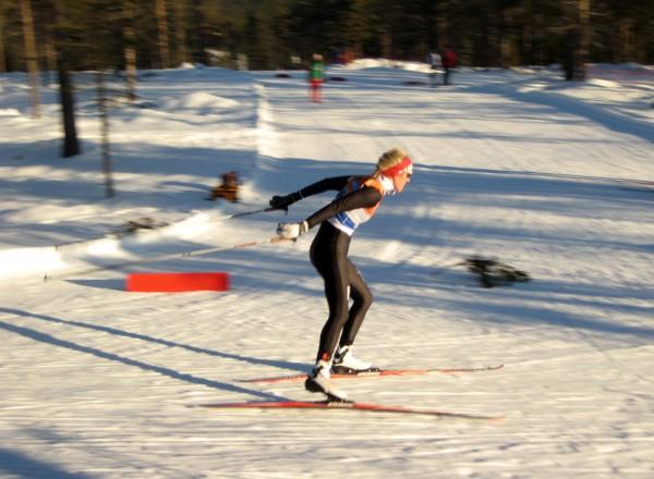 SØLV: Dagens overraskelse var det Kathrine Harsem fra Varden Il som stod for.  Her fra fjorårets NM på Gåsbu (Foto: Frode Monsen / Sportsmanden)