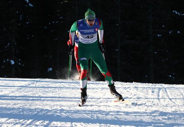 Christian Westgaard fra Rustad IL ble kun slått av sin tidligere klubbkamerat og treningskamerat  Thomas Giftsad i klasse M21-25 år. Westgaard var 1.29 bak og ble nr 7 totalt i rennet. Her er han under NM på vang i fjor. (Foto: Bjørn Hytjanstorp)
