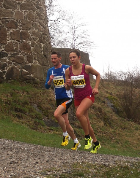 SYNKRONT: Kristine Platace tar andreplassen på 1.27.34. Hun fikk lenge god pes av Christian Steffensen fra Røa, som imidlertid sa takk for følge etter hvert og perset på 1.26.54.