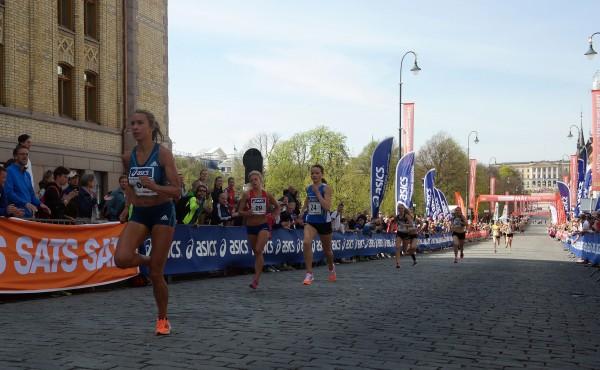 Sentrumssprinten damer, med Ingvild Måkestad Bowin i tet. Foto: Frode Monsen, Sportsmanden