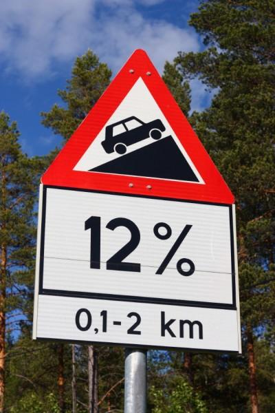 På tide å gire ned - velkommen til Mørdarbakken på Fylkesvei 217 i Rendal! Foto: Øyvind Wold