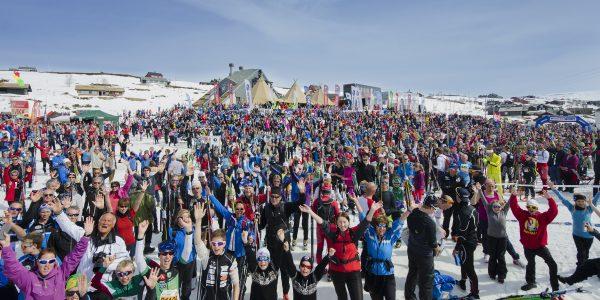 Folksomt og flott da Skarverennet ble arrangert på lørdag.  (Foto: Arrangørens hjemmeside)