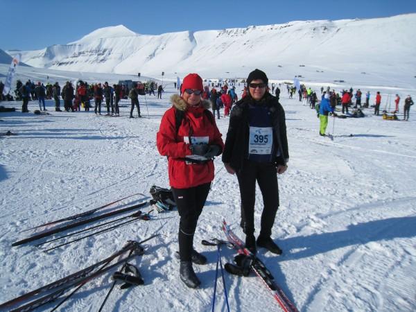 Turid Malmo Knutsen og Bodil Klakegg klar til start.