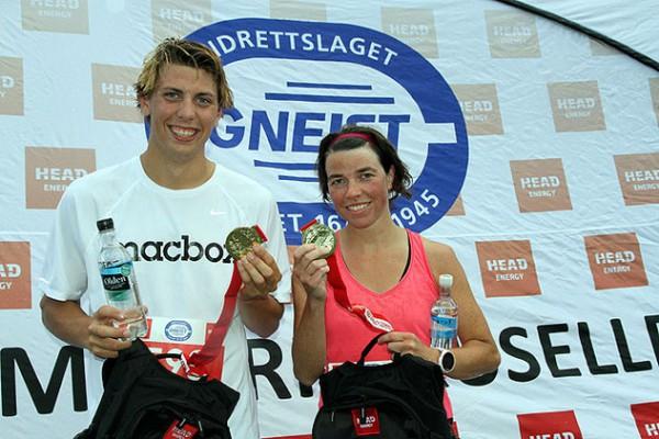 Håvard Austevoll og Hilde Askeland var raskest i karusellens 3. løp mandag 30.juni