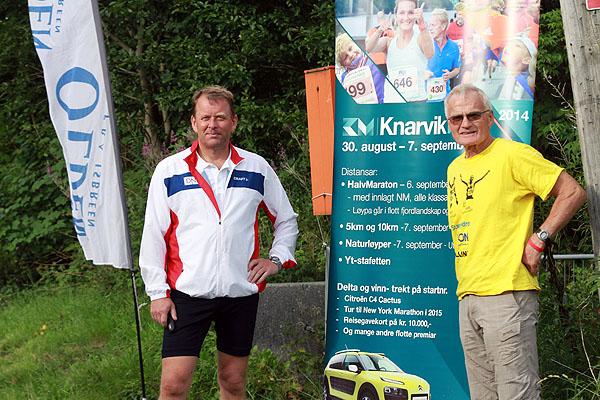 Også NFIF var representert denne gang, her ved VP Tore Hordnes. Helge Brekke var også på plass for å markedsføre Knarvikmila.