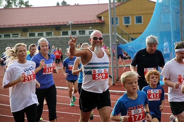 """God stemning blant mosjonistene, her representert ved Per Erik """"Pekken"""" Pettersen"""
