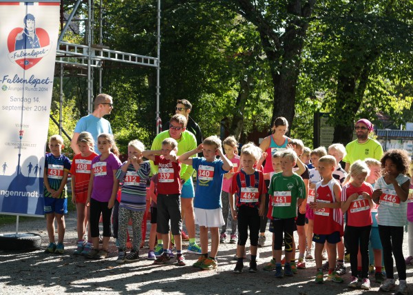 Klart til start i det ungste barneløpet. Foto: Frode Monsen, sportsmanden.no