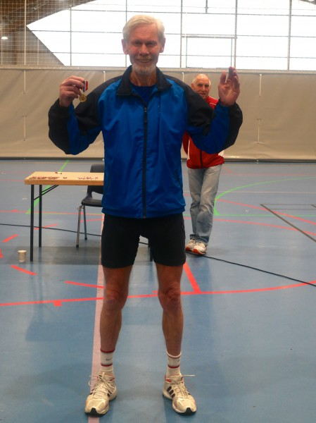 Bjørn Lauglo fra Stovnerkameratene kan juble for klasseseier og KM-gull for Oslo etter 1.31.19. Foto: Frode Monsen