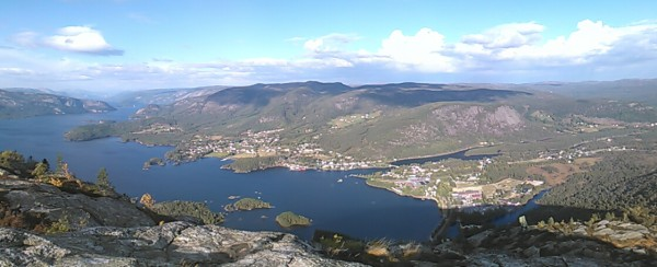 Utsikten fra toppen av Skuggenatten