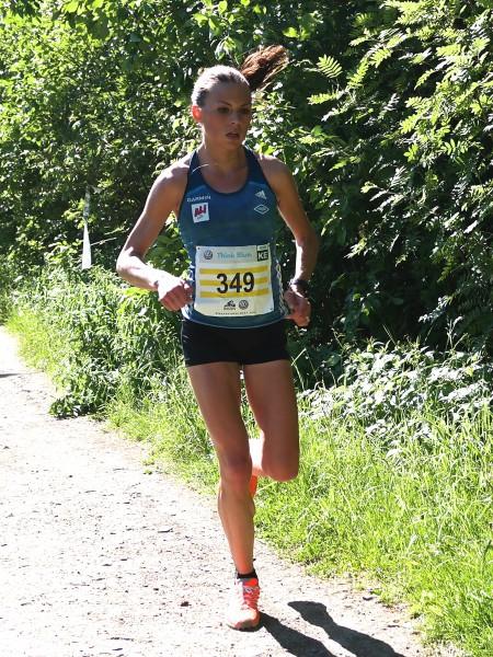 Veronika Blom hadde full kontroll og vant Nordisk mesterskap i terrengløp, som hun gjorde her i Birkebeinerløpet tidligere i år. Foto: Frode Monsen / Sportsmanden