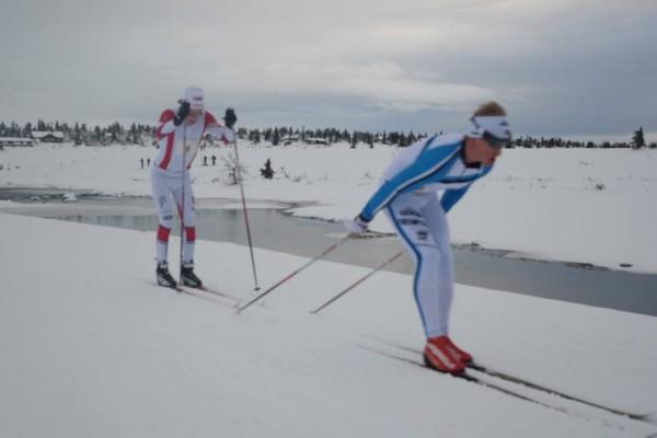 Morten Eide Pedersen og Anders Mølmen Høst kjempet om 3. og 4.plassen.