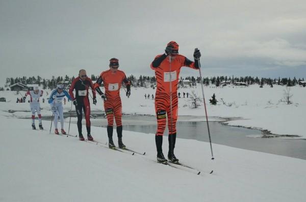 Tigrene i Team LeasePlan Go bet godt fra seg, men Tord Asle Gjerdaken, tredjemann i rekken her, kom først i mål av disse til femteplass.