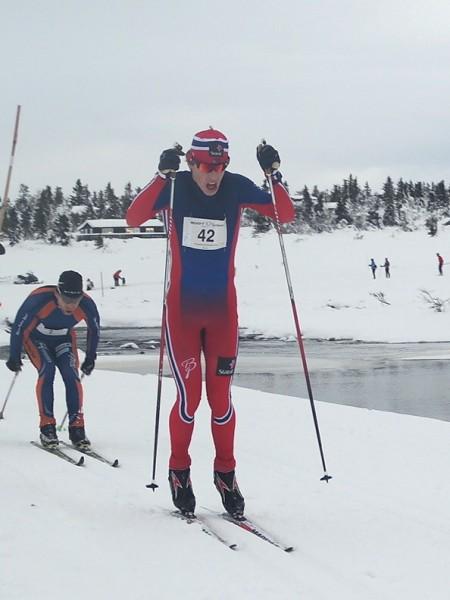 Mattis Stenshagen i Romjulsrennet på Sjusjøen forrige helg, der han ble nummer 8. Foto: Frode Monsen, Sportsmanden