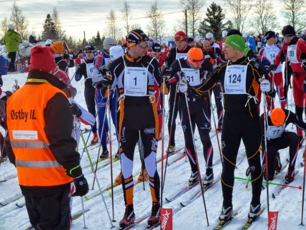 Klar til start for årets Trysil Skimaraton. (Arrangørfoto)