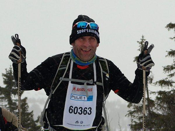 Arvid Mathiesen er en ivrig mosjonist fra Bøler, som denne gangen stilte med eget utstyr for Sportsmanden! <br /!Foto: Sportsmanden / Frode Monsen