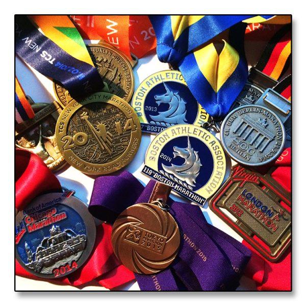 Løperbling - alle World Majors-medaljene samlet. Vakkert...