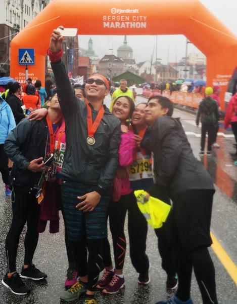 Bergen City Marathon er eksotisk for mange utlendinger.