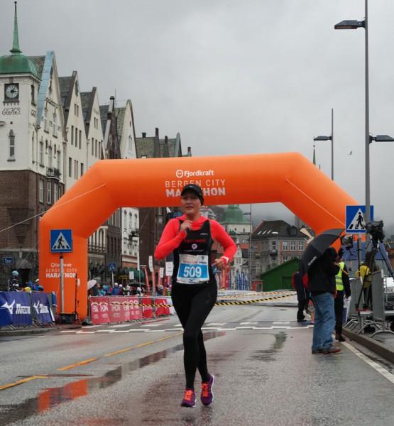 Cecilie Klungtveit var nest beste dame på maraton.