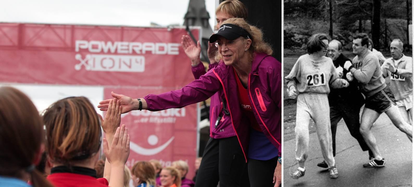 I 2015 feirer Island at kvinner har hatt full stemmerett på Sagaøya i 100 år. I den anledning har de invitert over selveste Kathrine Switzer til å fyre av startskuddet i maratonet. I USA er hun et av de store ikonene innen kvinneidrett grunnet hennes ulovlige gjennomføring av Boston Marathon i 1967 (den gang da kvinner ikke fikk lov til å løpe maraton i USA). Bildene som ble publisert av illsinte funskjonærer som feilet i forsøket på ta henne ut av maratonet gjorde henne til en heltinne og i 1972 åpnet President Nixon opp for mer lik behandling av mannlige og kvinnelige langdistanseløpere. I OL i LA i 1984 ble maraton for kvinner endelig også en del av programmet og vi ble servert den episke duellen Benoit vs. Waitz gjennom Los Angeles sine solylte gater!