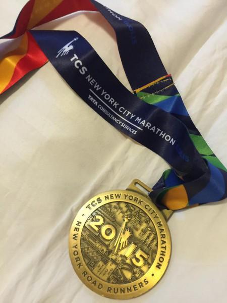 BEVISET! Den gjeveste av alle maratonmedaljer? Foto: Eva Quivey