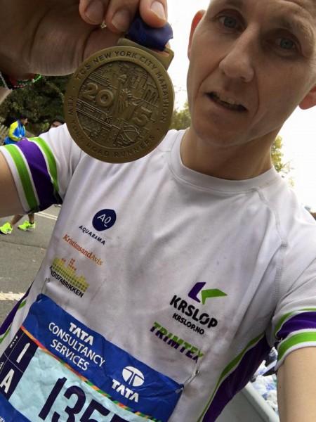 MEDALJENS FORSIDE: Finn Kolstad gjorde et kjempeløp i New York.