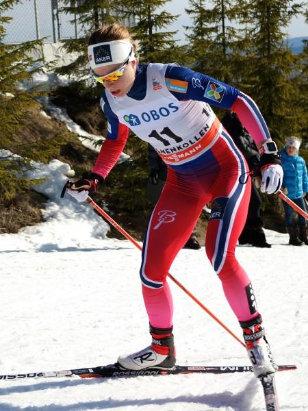 Astrid Uhrenholdt Jacobsens prestasjoner i NM ble kalt verdenmsklasse, og selv uttalte hun atå være i sitt livs form. Kan hun gå helt til topps på søndagens tremil på hjemmebane? (Foto: Frode Monsen / Sportsmanden)