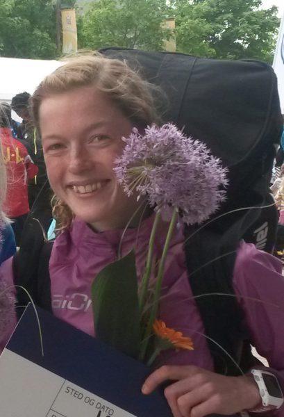 Hilde Aders var meget godt fornøyd etter tredjeplass på Birkebeinerløpet forrige helg. Og selv om hun ikke fikk revansje på Marthe Katrine Myhre, rykket hun et hakk opp på pallen til 2.plass i hjembyen Tromsø (Foto: Frode Monsen)