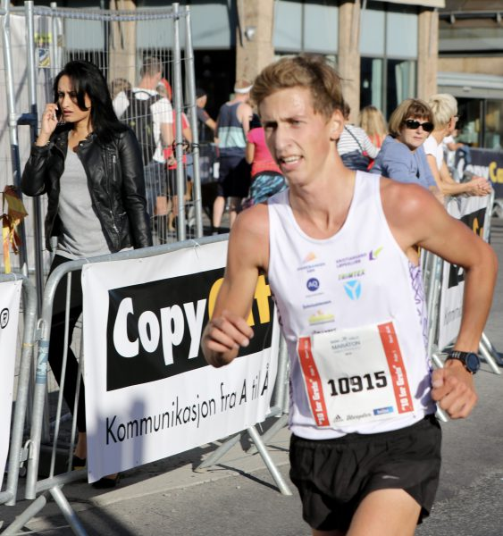 STERKTLØPT:Kristian Tjørhom var ikke langt bak Kibrab og kom også under 31 minutter.
