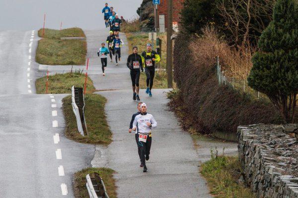 Småkuert løype preger Karmøy Maraton. (Foto: Kjell Bua)