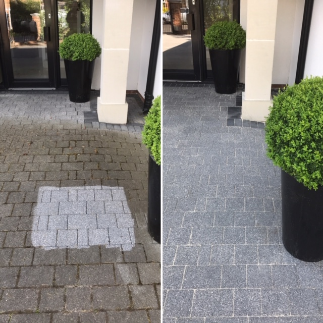 Block paving 3 after pressure and soft washing