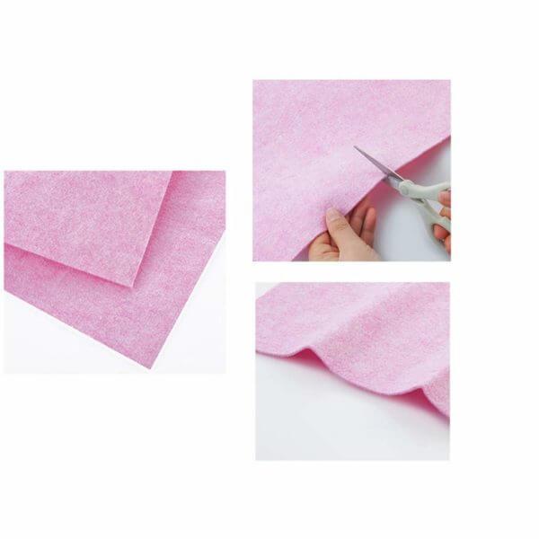 coconut cloth details, folding, cutting