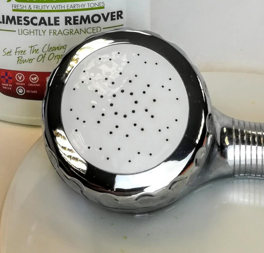 shower head and descaler