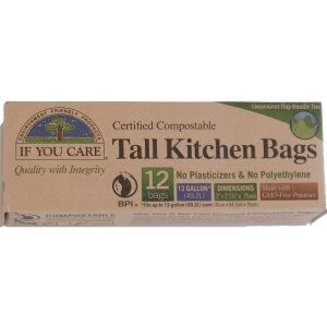 compostable bin bags front