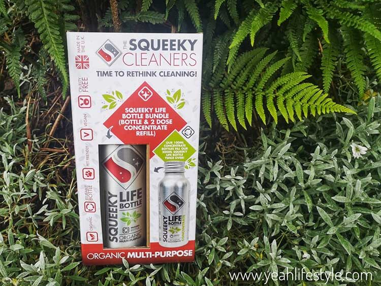 Multi purpose life bottle bundle against foliage
