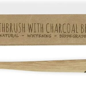 Bamboo Toothbrush with Charcoal Fibre Bristles