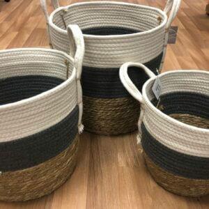 Striped Basket set of three