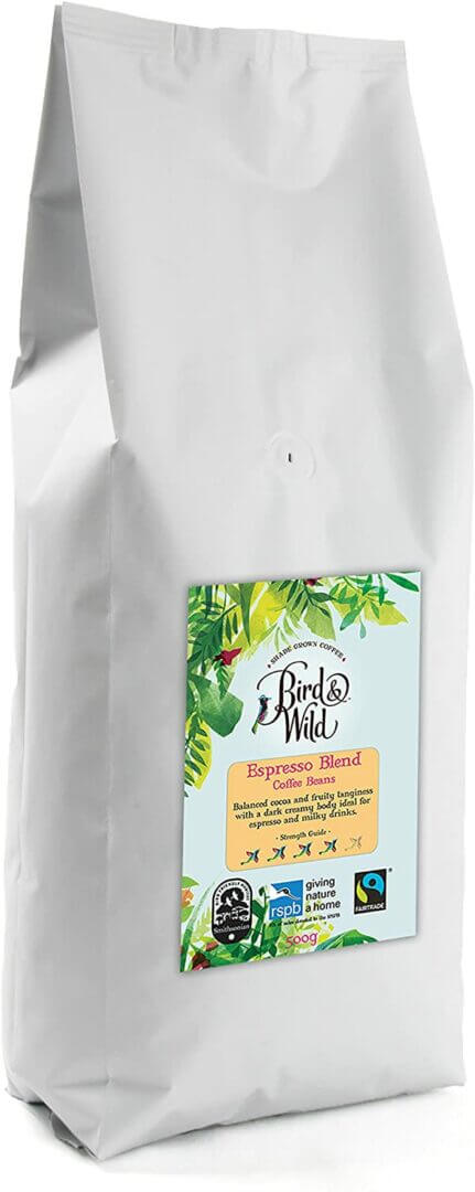Bird and Wild Espresso Strength 4 Whole Bean 500g
