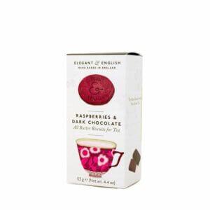 Raspberries and Dark Chocolate Biscuits