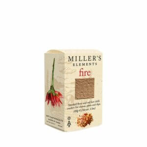 Smoked flour and chilli crackers