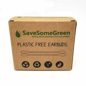 Plastic free earbuds in box