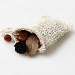 Natural plastic-free sisal soap bag