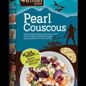 Artisan Grains Pearl Couscous in a blue box