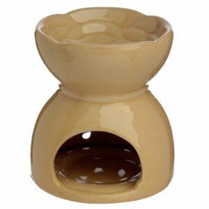 Cream ceramic oil burner