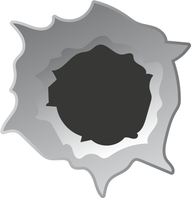 SSV afb-bullethole-papier