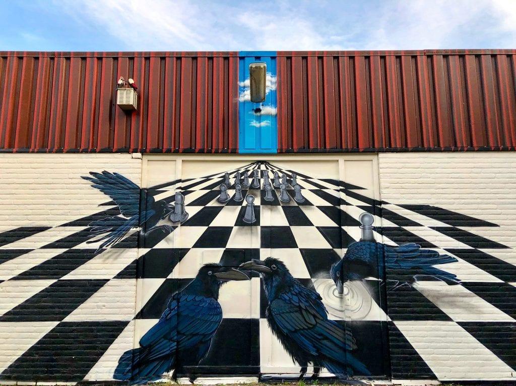 Stadsdichter Heerlen afbeelding mural