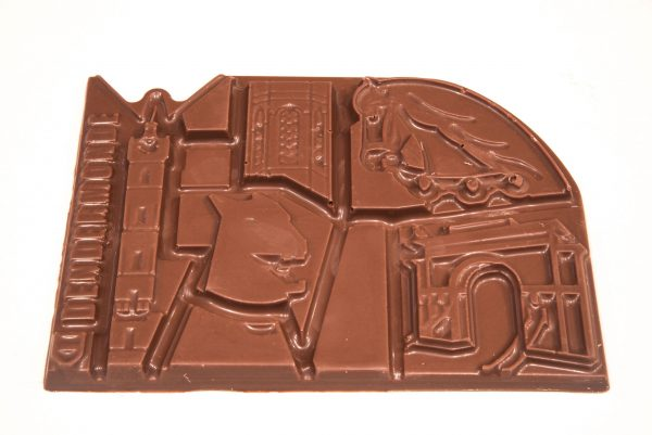Chocolade reep stadsduif Dendermonde