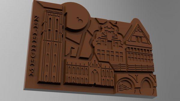 Render Stadsduif Chocolade Mechelen